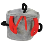 Be the coolest person at your crab feast or crawfish boil by sporting this awesome Plush Boiling Pot Hat. There is one hat in the package and fits most sized heads. Please keep in mind that this item is nonrefundable due to hygiene-related concerns.