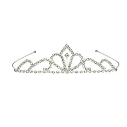 Working on a new cosplay character?  Our tiara's are just right for the an Elvin princess, sorcerer queen, interstellar royalty, or anime warrior! The Royal Rhinestone Tiara made of metal with clear rhinestones. 1 size fits most. 1 per package. No returns