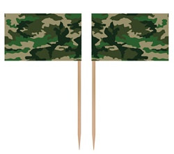 Camo Flag Picks (50/pkg)