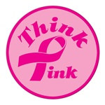 Pink Ribbon Button