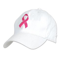 Embroidered Pink Ribbon Cap