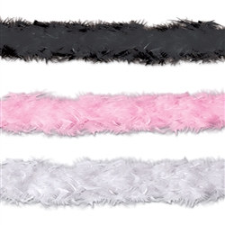 Fancy Feather Boa (Select Color)