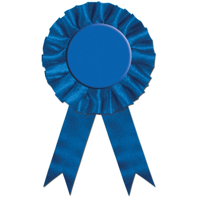 blue rosette award ribbon partycheap