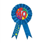 Blue 40 Rosette Award Ribbon