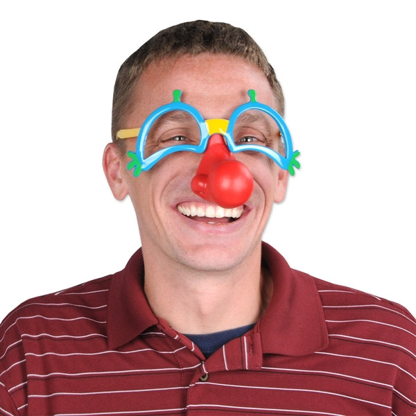 ffa1160122825 Clown Glasses with Nose - PartyCheap