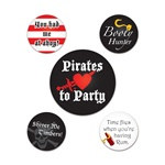 Pirate Party Buttons (5/pkg)