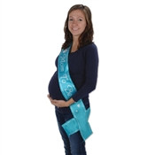 Turquoise Mom To Be Satin Sash