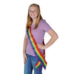 Rainbow Satin Sash