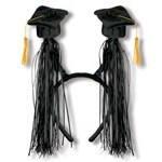 Black Grad Cap Boppers with Fringe