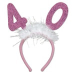 Number 40 Glittered Boppers with Marabou