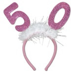 Number 50 Glittered Boppers with Marabou