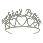 Glittered Birthday Princess Tiara