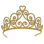 Heart Gold Glittered Tiara