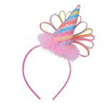 This colorful headband takes the normal party hat to a whole new level. It has beautiful shades of pink, blue, yellow and purple to give it a magical look. Comes one headband per package.