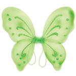 These light green Nylon Fairy Wings will complete any fairy or butterfly costume out there. With glitter embellishments, these fun wings are sure to please anyone. More colors are available.