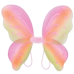 These multi-color Nylon Fairy Wings will complete any fairy or butterfly costume out there. With glitter embellishments, these fun wings are sure to please anyone. More colors are available.