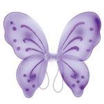 These purple Nylon Fairy Wings will complete any fairy or butterfly costume out there. With glitter embellishments, these fun wings are sure to please anyone. More colors are available.
