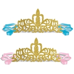 Now everyone who attends can be party royalty with our Princess Glittered Tiaras.  These tiaras are gold glittered and made from heavy duty flexible cardstock, so one size fits most.