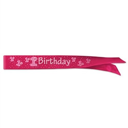 1st Birthday Satin Sash