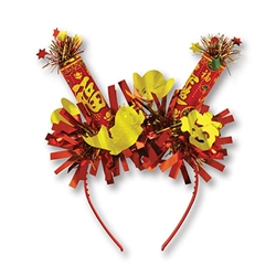 Looking for unusual way to celebrate Chinese New Year?  This Chinese New Year Headband is just what your looking for! Fun to wear and a definite conversation starter. Start the Year of the Pig off in style!  One size fits most.