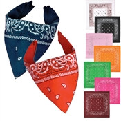 Solid Color Bandanas - 1/pkg (Select Color)