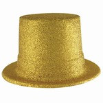 Gold Glittered Top Hat