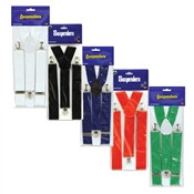 Solid Color Suspenders - 1/pkg (Select Color)