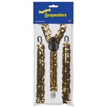 Gold Sequined Suspenders
