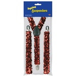 Red Sequined Suspenders