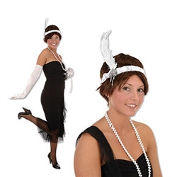 White Flapper Headband