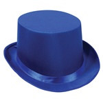 Blue Satin Deluxe Top Hat