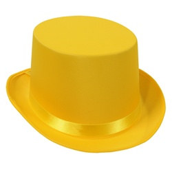 Yellow Satin Deluxe Top Hat