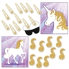 Make your princess' dream come true with our set of two Unicorn Party Games!  Played like the traditional pin-the-tail type of game, package includes a set for pin the tail on the unicorn and a separate set for pin the horn on the unicorn!
