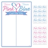 Pink or Blue, what do your friends think?  We make it easy to see the consensus with our Gender Reveal Tally Board and Stickers.