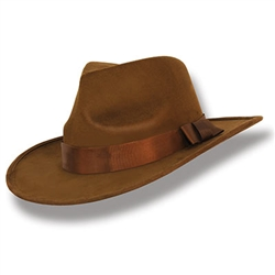 "Dressing for a great 20's, gangster, 50's or 60's themed party?  This Brown Fabric Fedora Hat is just the thing to ""top off"" your outfit.