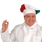 Red, White, and Green Oversized Chef's Hat