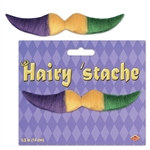 Green Gold and Purple Hairy Mustache