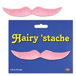 Pink Hairy 'stache