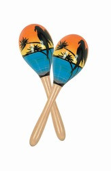 Tropical Fun Party Maracas, 8in