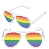 Add fun, color, and a certain style to your next party, costume, or just for fun with these Rainbow Pinhole Glasses.  You're sure to create smiles with these rainbow colored glasses and brighten the day of the people you meet!