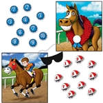 You'll be off to the races with this fun 2-in-1 Horse racing party game!  Choose your challenge: Pin the derby helmet on the jockey or the ribbon on the horse.  There can only be one winner but everyone is guaranteed to have fun!