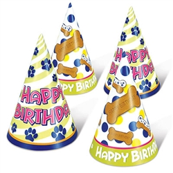 Your dog will look great in their very own Dog Birthday Cone Hat!  You furry family member deserves to have as much birthday fun as anyone else, there will be dog smiles everywhere when they're wearing these fun hats.