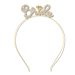 No one will have doubt who the guest of honor is at the bridal shower, bachelorette party, or wedding with this luxurious Rhinestone Bride Headband.  One size fits most.  Please Note: This item is not intended for children.