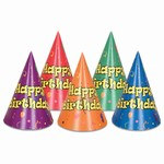 Balloon and Confetti Birthday Hats (sold 144 per box)