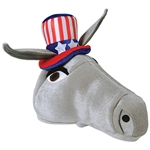 Get set for 2020 and show your party pride when you wear this plush Patriotic Donkey Hat!  You'll be able to make your political statement without saying a word!  Perfect for your Facebook, Instagram and Pinterest posts!
