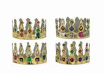 Printed Jeweled Crowns (Assorted Designs - Sold Individually)