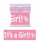 Its A Girl Party Tape, 3inx20ft