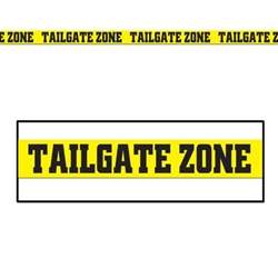 "Tailgate Zone Party Tape, 3""x20'  (1/Pkg), All-Weather Poly Material"