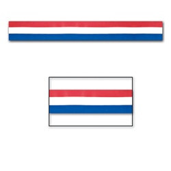 Red, White, and Blue Party Tape