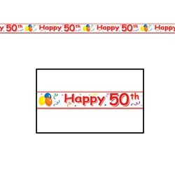 Happy 50th Birthday Party Tape
